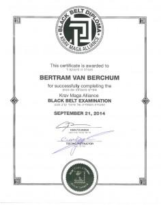 black Belt certificaat | krav Maga